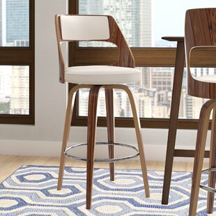 Adelyn Swivel Bar Stool by Wade Logan