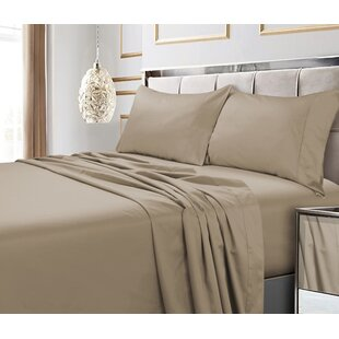 Brayden Studio Tolson 600 Thread Count 4 Piece Egyptian Quality Cotton Deep Pocket Sheet Set