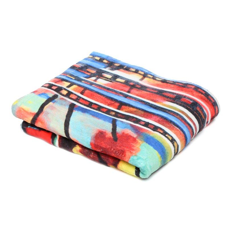 80 x 60 Fleece Blanket Kess InHouse Chelsea Victoria Life is But A Dream Nature Blue Throw