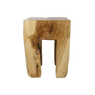 Yellow Pine Decorative Stool By Union Rustic