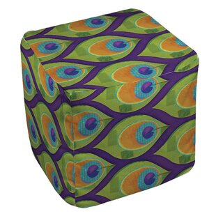Manual Woodworkers & Weavers Peacock 10 Pouf