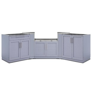 Kitchen 5 Piece Outdoor Bar Center Set by NewAge Products