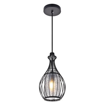 1 Light Arushi 1 Light Black Pendant Wrought Studio
