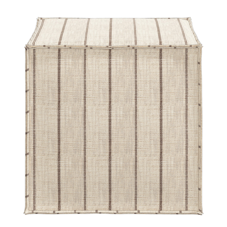 Angeles 19 Square Striped Cube Ottoman Joss Main