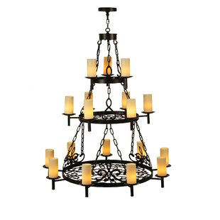 Meyda Tiffany Newcastle Three Tier 18-Light Wagon Wheel Chandelier