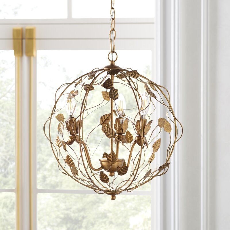Kelly Clarkson Home Gabby 3 - Light Unique Globe Chandelier