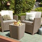Berrios Balcony 3 Piece Bistro Set with Cushions