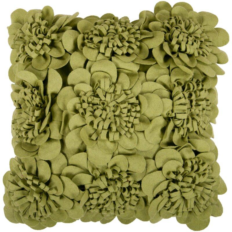 House of Hampton Fultz Felt Garden Wool Pillow Cover & Reviews | Wayfair