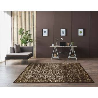 Ophelia Co Foxborough Oriental Brown Beige Area Rug Wayfair