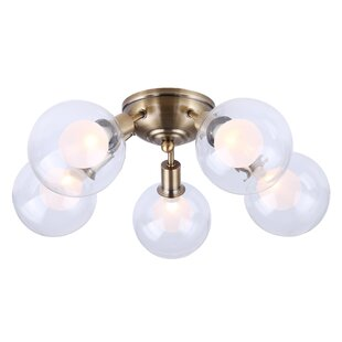 Zelie 5-Light Semi Flush Mount by Everly Quinn
