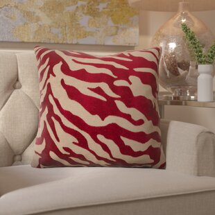 Kaler Eye-Catching Zebra Throw Pillow