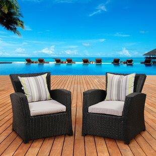 Beachcrest Home Aquia Creek Armchair with Cushion (Set of 2)