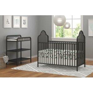 Rowan Valley Lanley 2 Piece Metal Crib Set