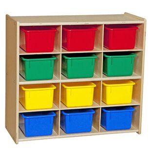 Buy clear Contender Baltic Birch Storage 12 Compartment Cubby with Trays ByWood Designs