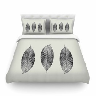 Julia Grifol Three Leaves Nature Featherweight Duvet Cover