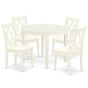 Thackeray 5 Piece Solid Wood Dining Set by Winston Porter