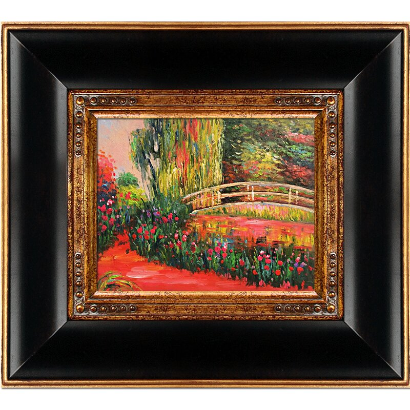 Vault W Artwork The Japanese Bridge The Water Lily Pond Water Irises By Claude Monet Picture Frame Painting Print On Canvas Wayfair