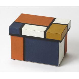 Exceptionnel Mosaic Leather Storage Box