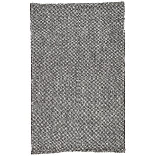 Read Reviews Hyde Hand-Loomed Black Area Rug ByWilliston Forge