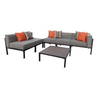 Brayden Studio Ressler 6 Piece Sunbrella Sofa Set with Cushions