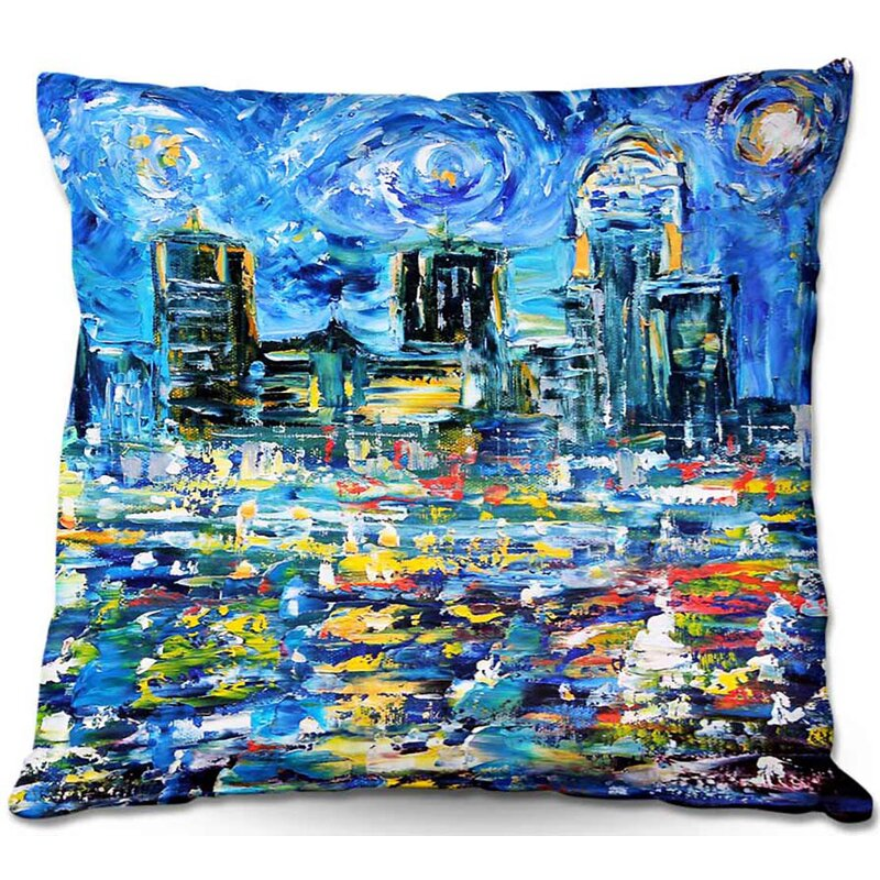 Ebern Designs Lauria Couch Starry Night Throw Pillow Wayfair