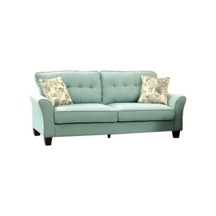 Gwendoline Padded Flax Fabric Sofa by Alcott Hill Read Reviews