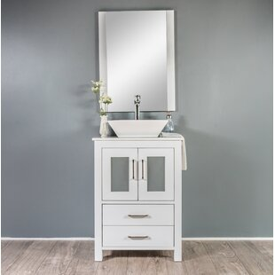 Leena 23 Single Bathroom Vanity Set with Mirror by Wrought Studio