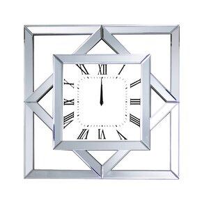 taifa mirrored wall clock - Mirrored Wall Clock