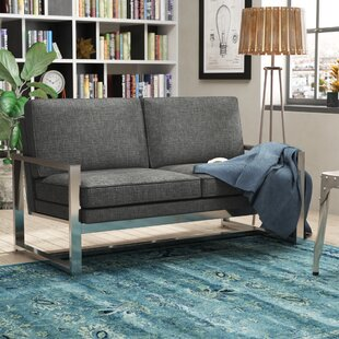 Adalbert Contemporary Metal Loveseat