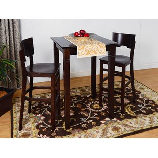 Eades Wood 3 Piece Pub Table Set DarHome Co