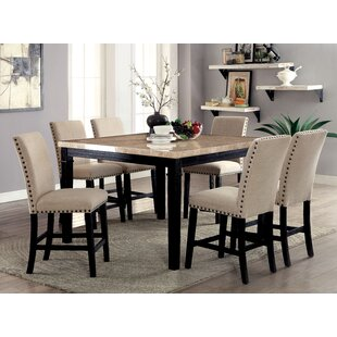 Hazel Counter Height 7 Piece Dining Set by Red Barrel Studio 2019 Sale