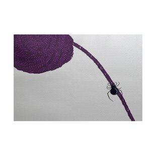 Spider Holiday Print Purple Indoor/Outdoor Area Rug