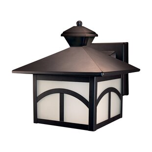 World Menagerie Glenview Metal Outdoor Wall Lantern with Motion Sensor