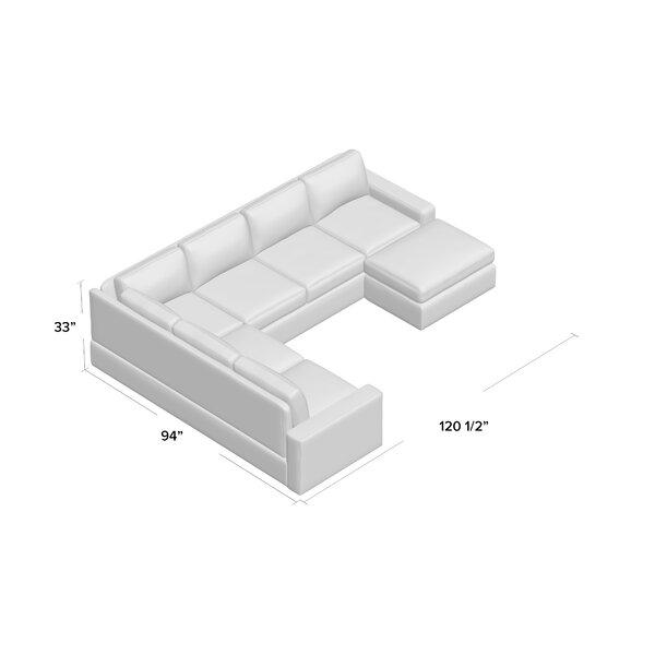Greyleigh Gosnell 120 5 Wide Reversible Modular Sectional Reviews Wayfair