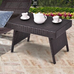 Amedeo Garden Outdoor Folding Coffee Table Ebern Designs