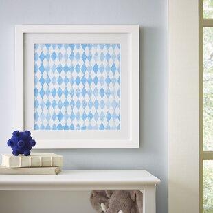 'Diamond Repeat Pattern' Framed Print