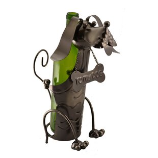 Dog with Bone Collar 1 Bottle Tabletop Wi..
