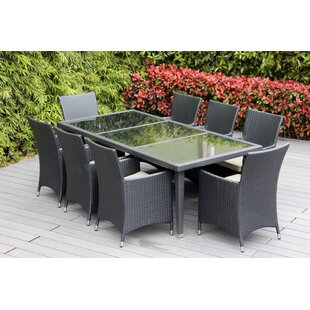 Ohana 9 Piece Dining Set with Cushion