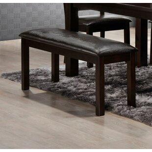 LYKE Home Faux Leather Bench