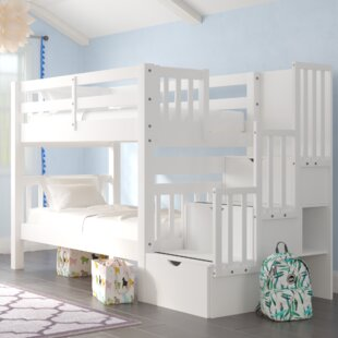 Tena Twin Over Twin  Bunk Bed with Trundle by Harriet Bee