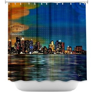Boston Skyline Single Shower Curtain
