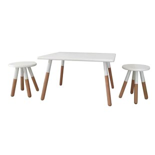 Great choice Kids 3 Piece Square Table and Stool Set By X Rocker