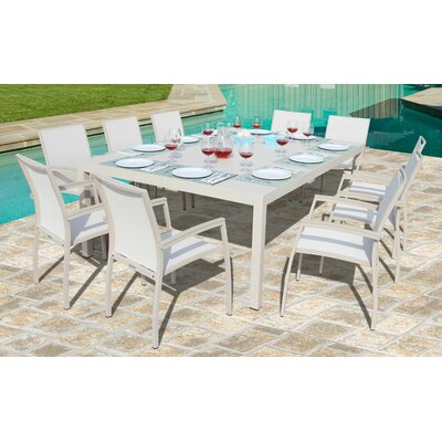Brayden Studio Daucourt 11 Piece Dining Set