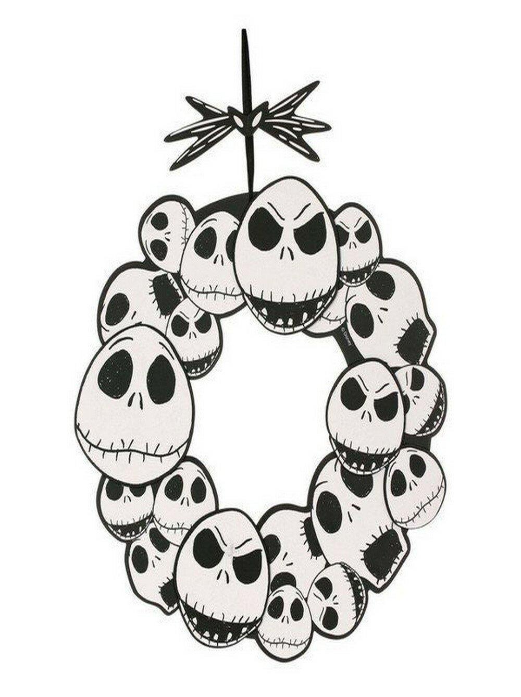 Na Nbc Jack Skellington 17 Plastic Wreath Wayfair