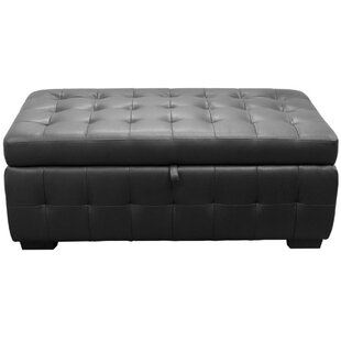 Esmund Tufted Faux Leather Storage Bench