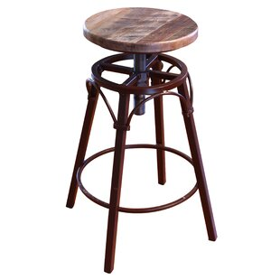Guyton Adjustable Height Swivel Bar Stool by Williston Forge