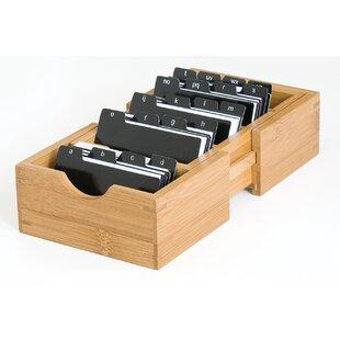 Desk business card holder wayfair bamboo expandable business card holder colourmoves