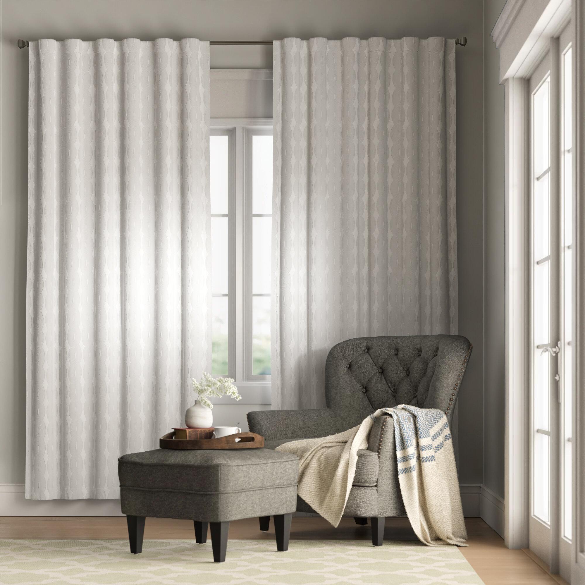 Huntington Geometric Room Darkening Thermal Rod Pocket Single Curtain Panel Reviews Birch Lane