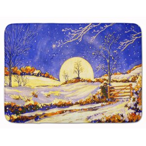 Winter Moonrise by Roy Avis Memory Foam Bath Rug