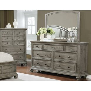 Staple Hill 7 Drawer Double Dresser with Mirror